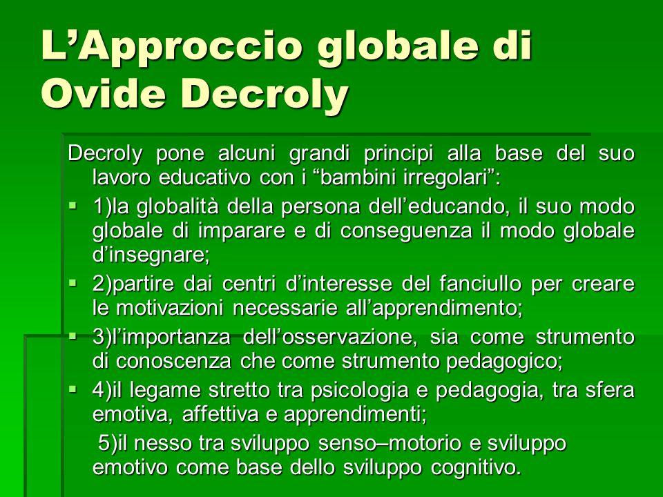 L'Approccio globale di Ovide Decroly