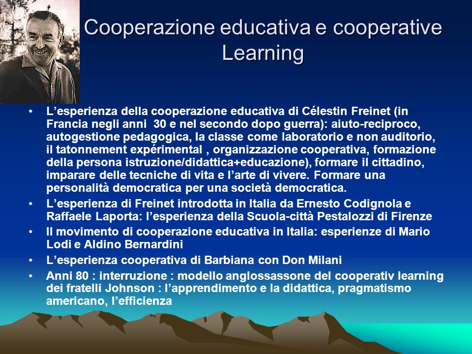 Cooperazione educativa e cooperative Learning