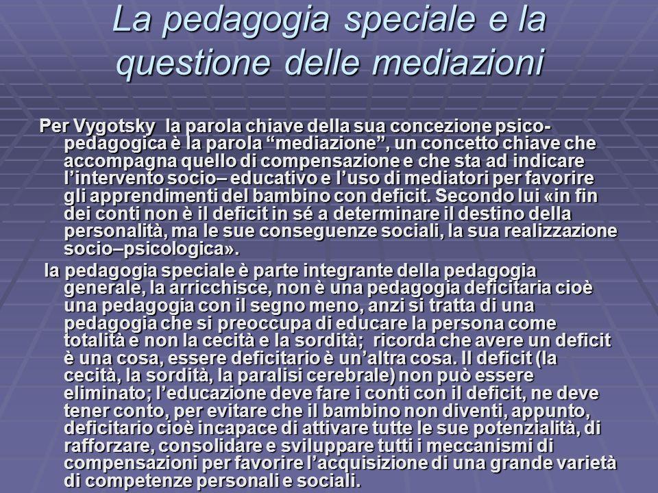 La pedagogia speciale e la questione delle mediazioni