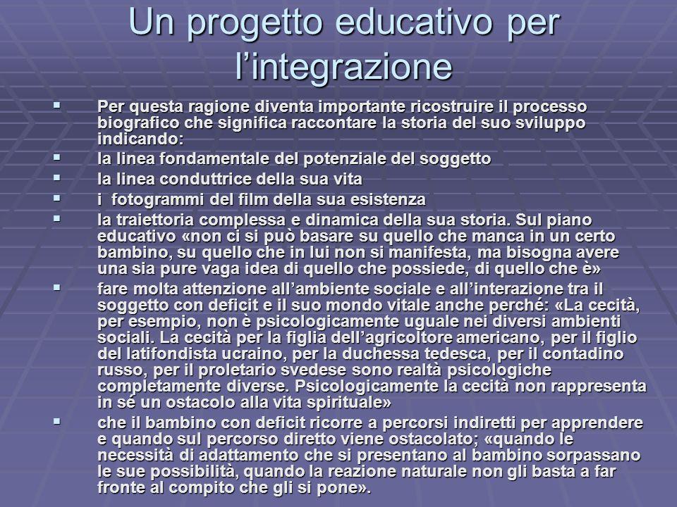 Un progetto educativo per l'integrazione