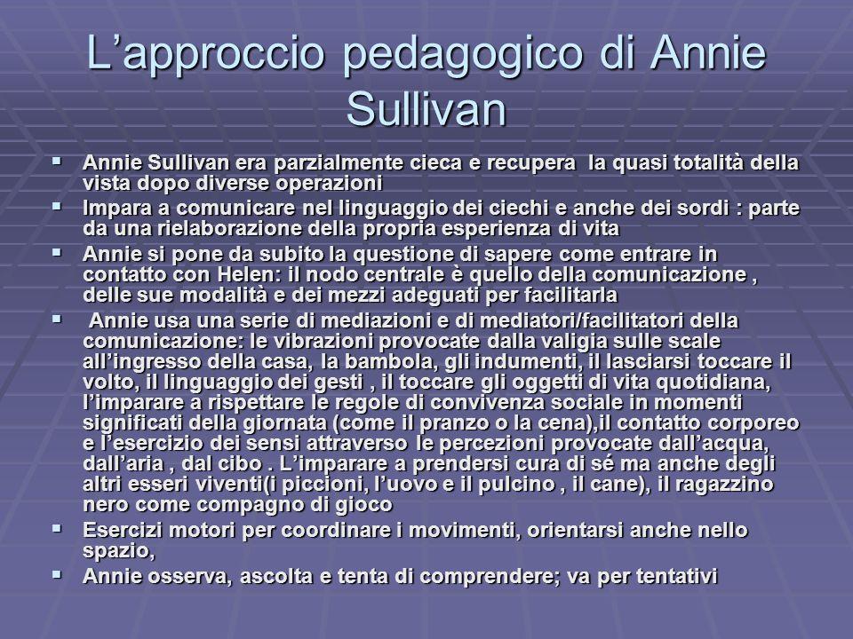 L'approccio pedagogico di Annie Sullivan