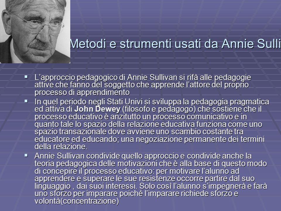 Metodi e strumenti usati da Annie Sullivan