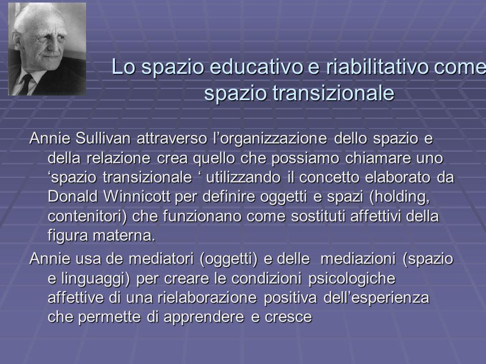 Lo spazio educativo e riabilitativo come spazio transizionale