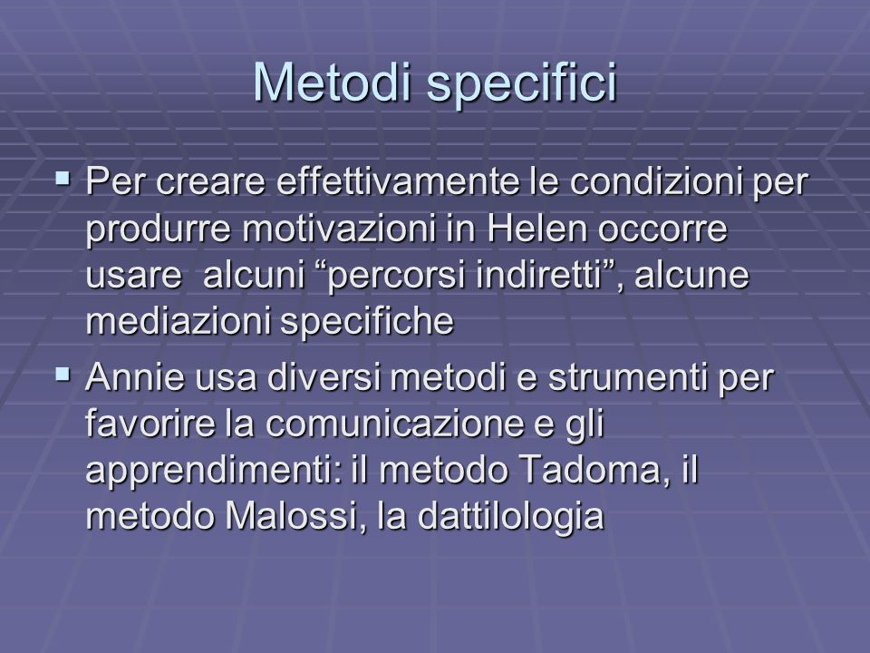 Metodi specifici