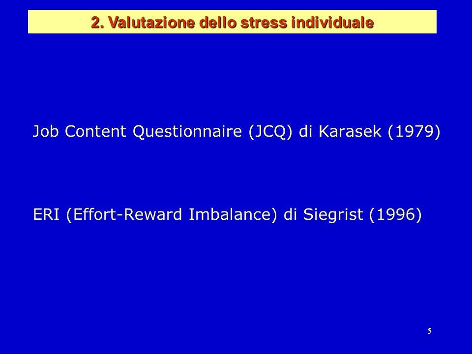 2. Valutazione dello stress individuale