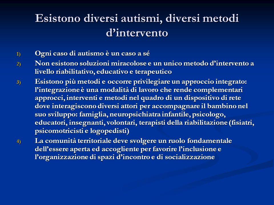Esistono diversi autismi, diversi metodi d'intervento