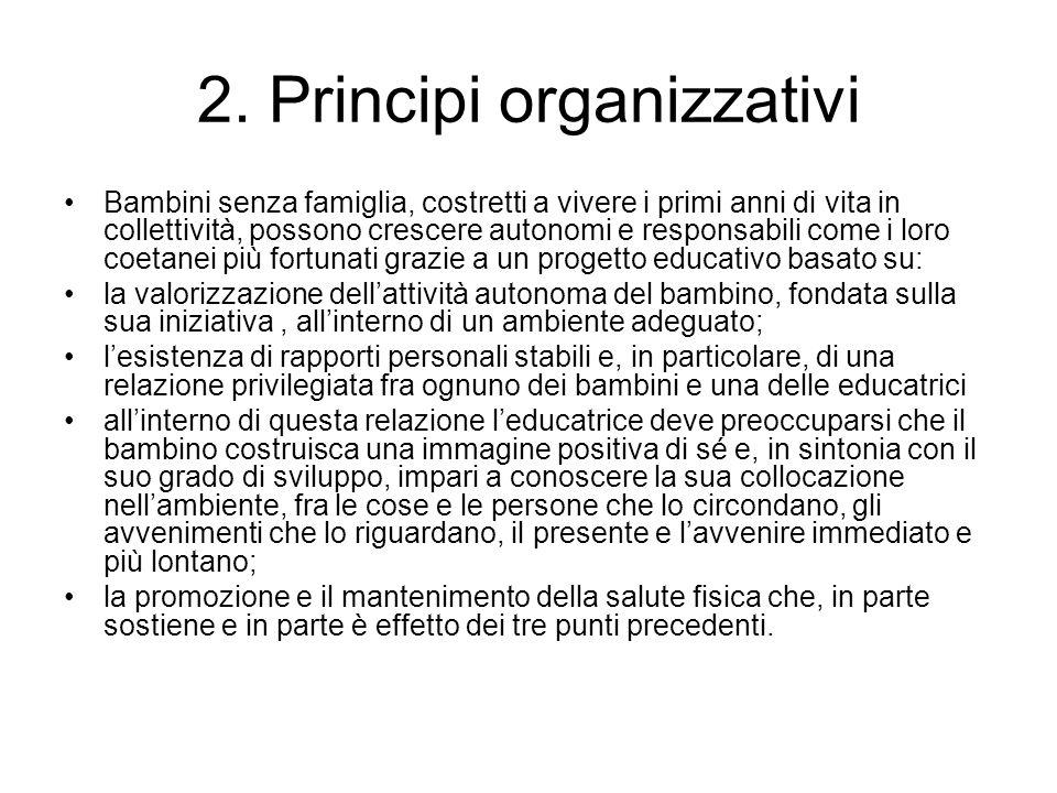 2. Principi organizzativi
