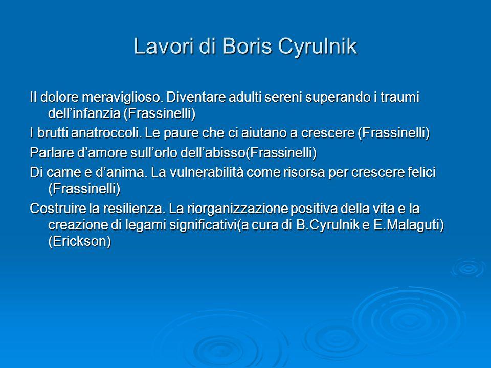 Lavori di Boris Cyrulnik