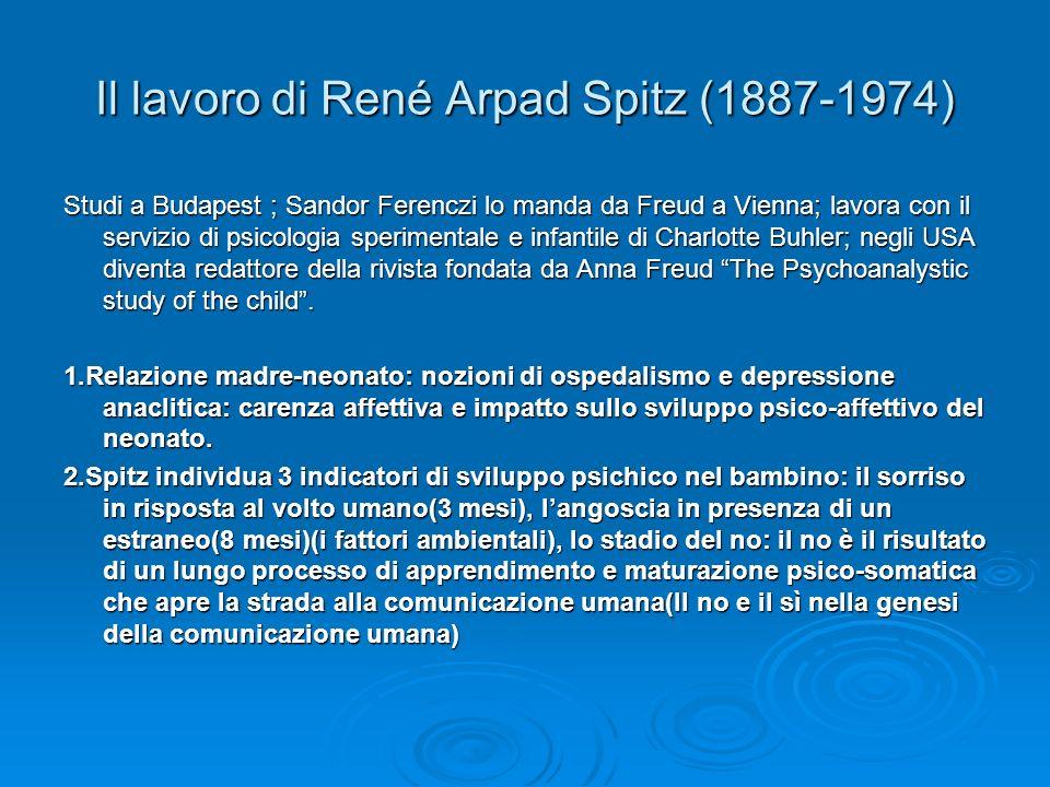 Il lavoro di René Arpad Spitz (1887-1974)