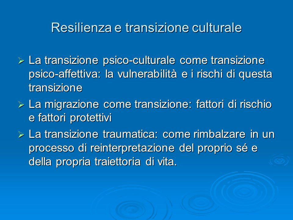Resilienza e transizione culturale