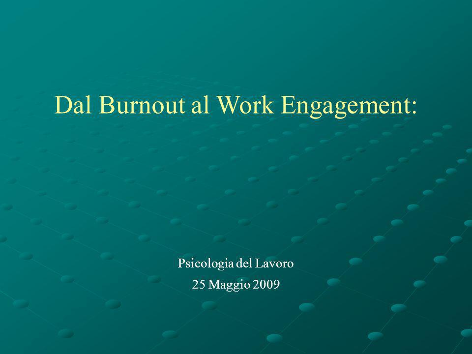 Dal Burnout al Work Engagement: