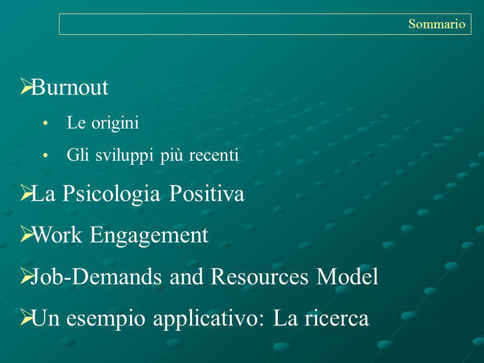 La Psicologia Positiva Work Engagement Job-Demands and Resources Model