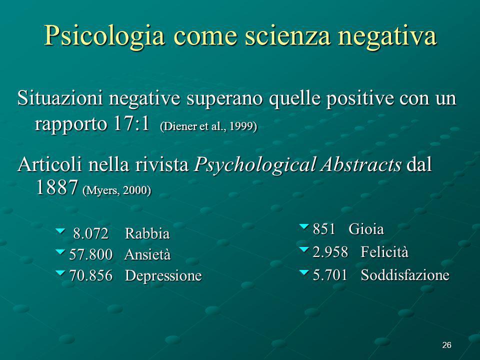 Psicologia come scienza negativa