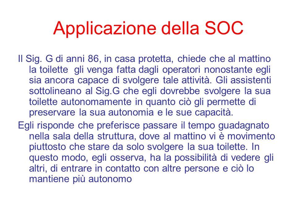Applicazione della SOC