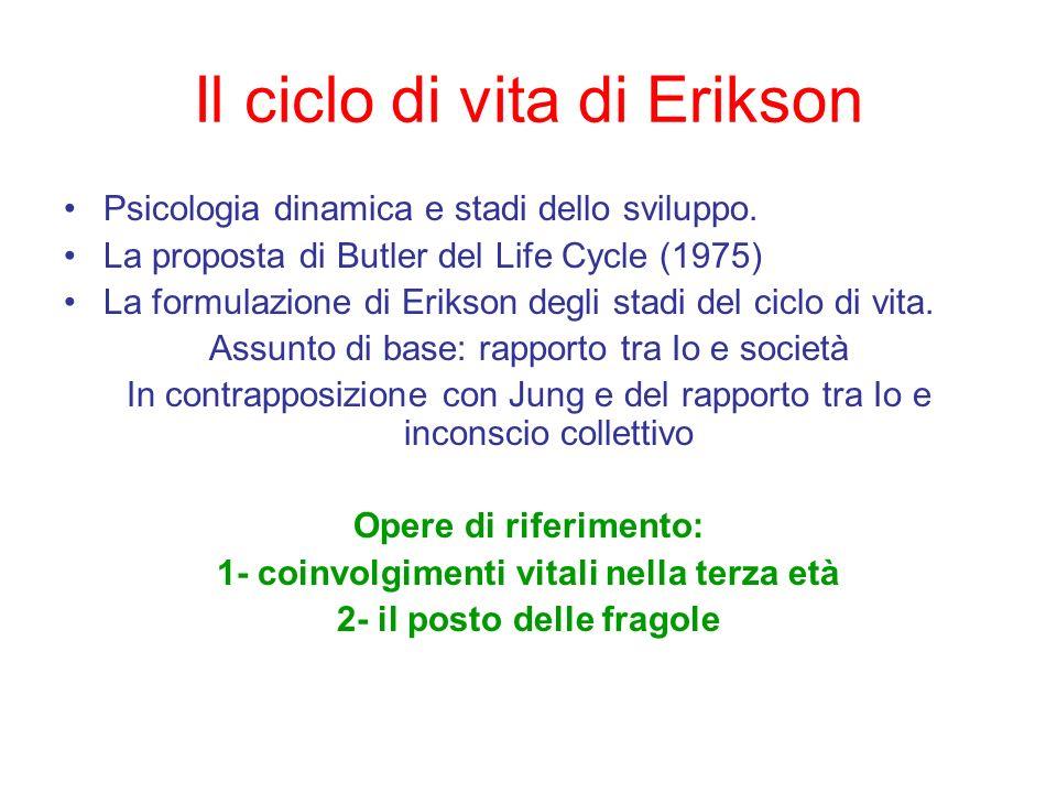 Il ciclo di vita di Erikson