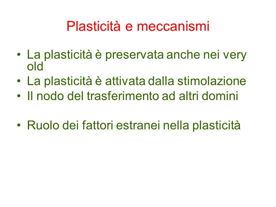 Plasticità e meccanismi