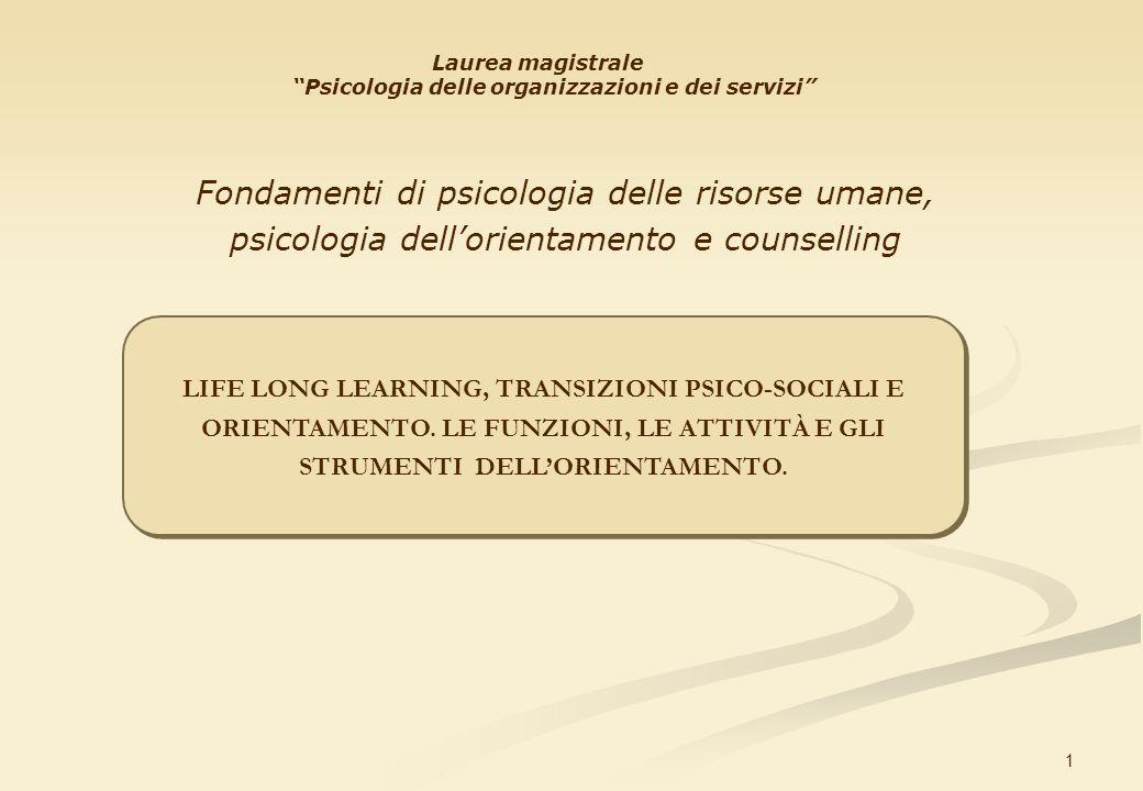 Fondamenti di psicologia delle risorse umane,