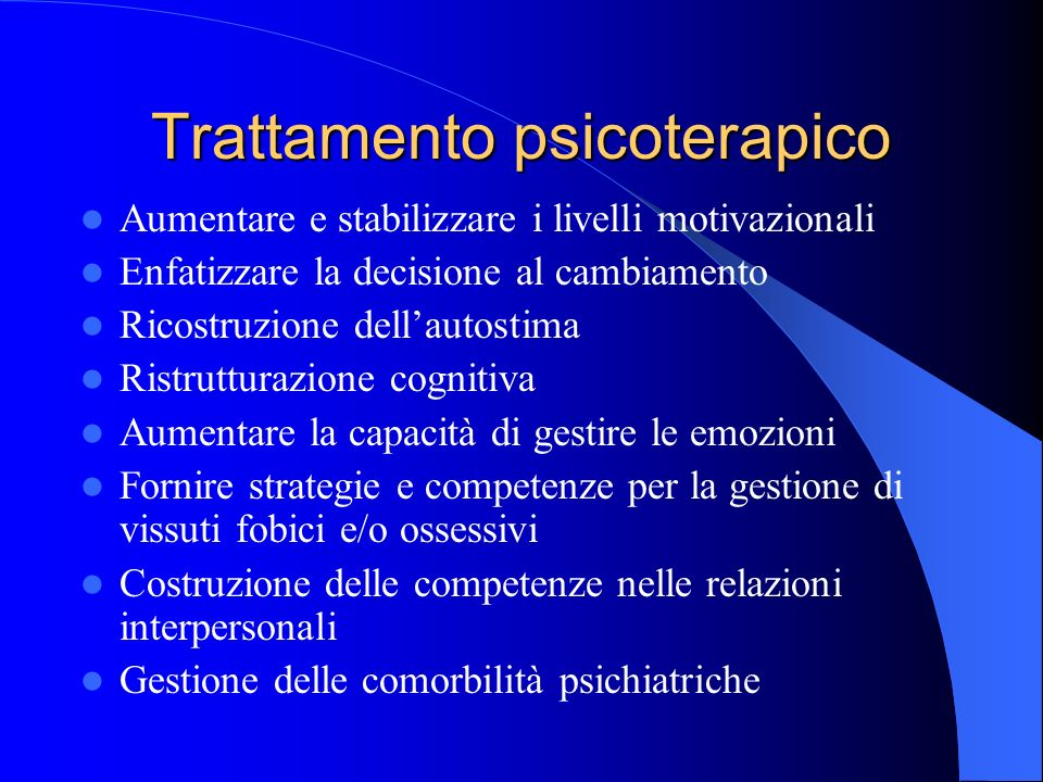 Trattamento psicoterapico