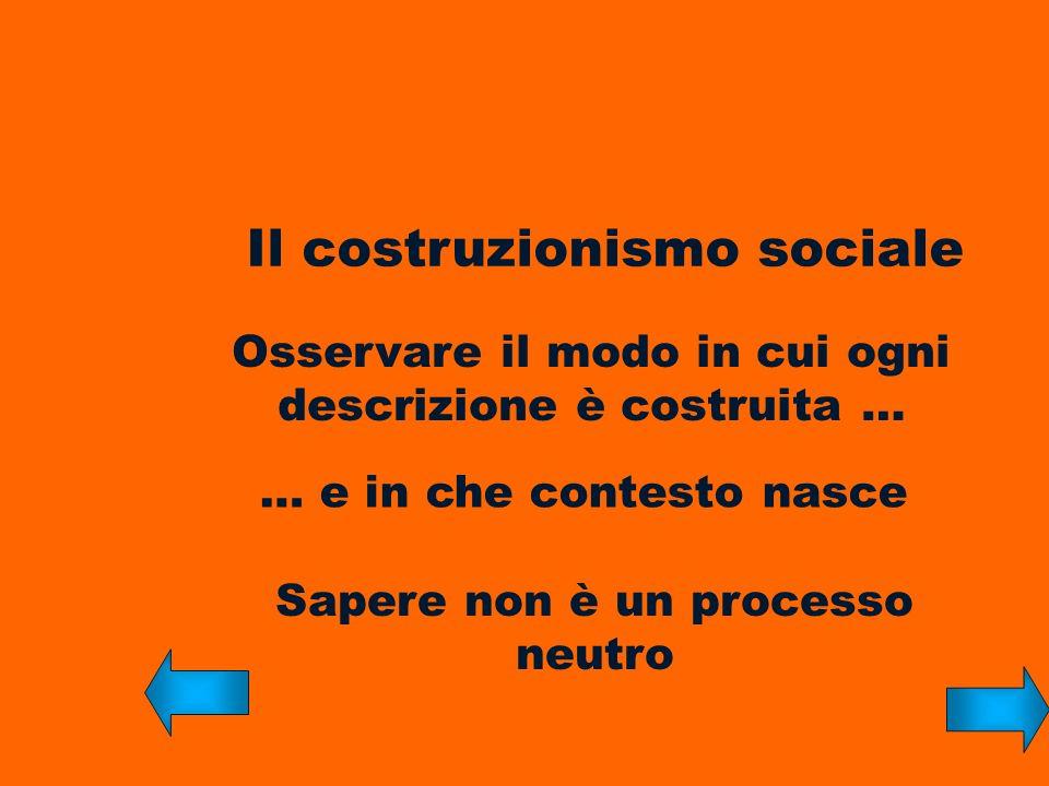 Il costruzionismo sociale