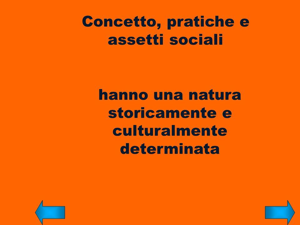 Concetto, pratiche e assetti sociali
