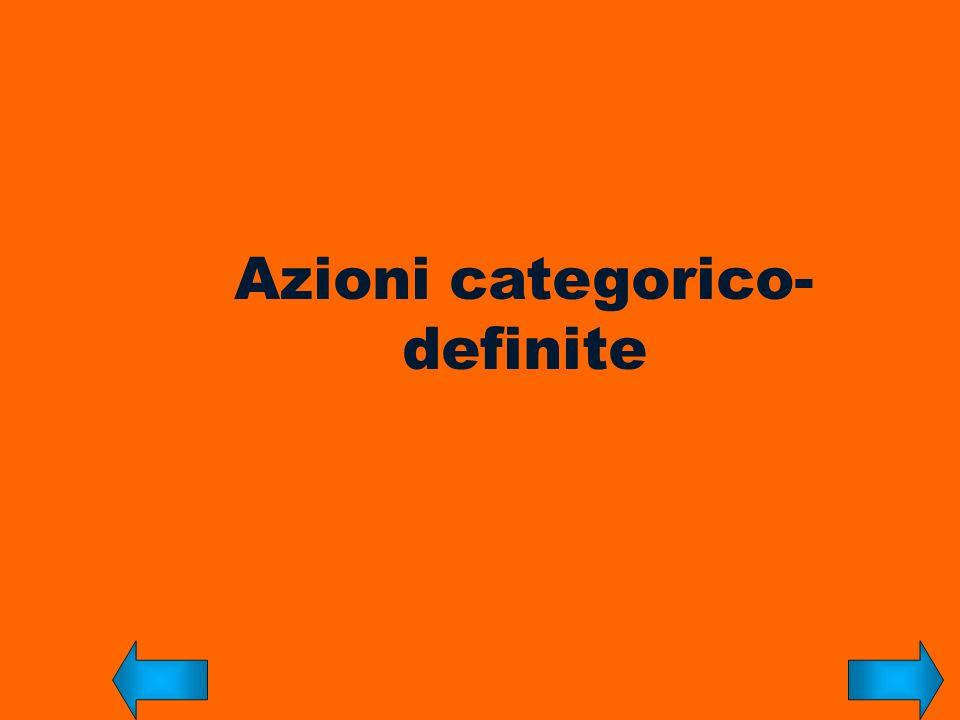 Azioni categorico-definite