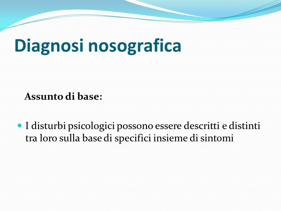 Diagnosi nosografica Assunto di base: