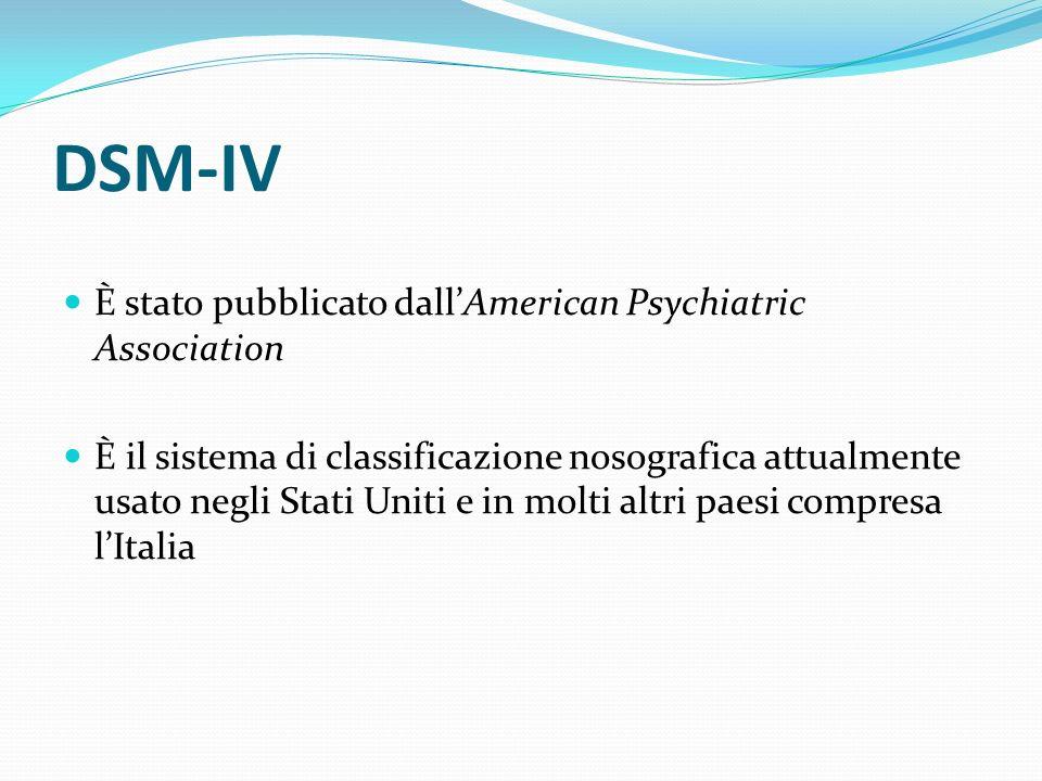 DSM-IV È stato pubblicato dall'American Psychiatric Association