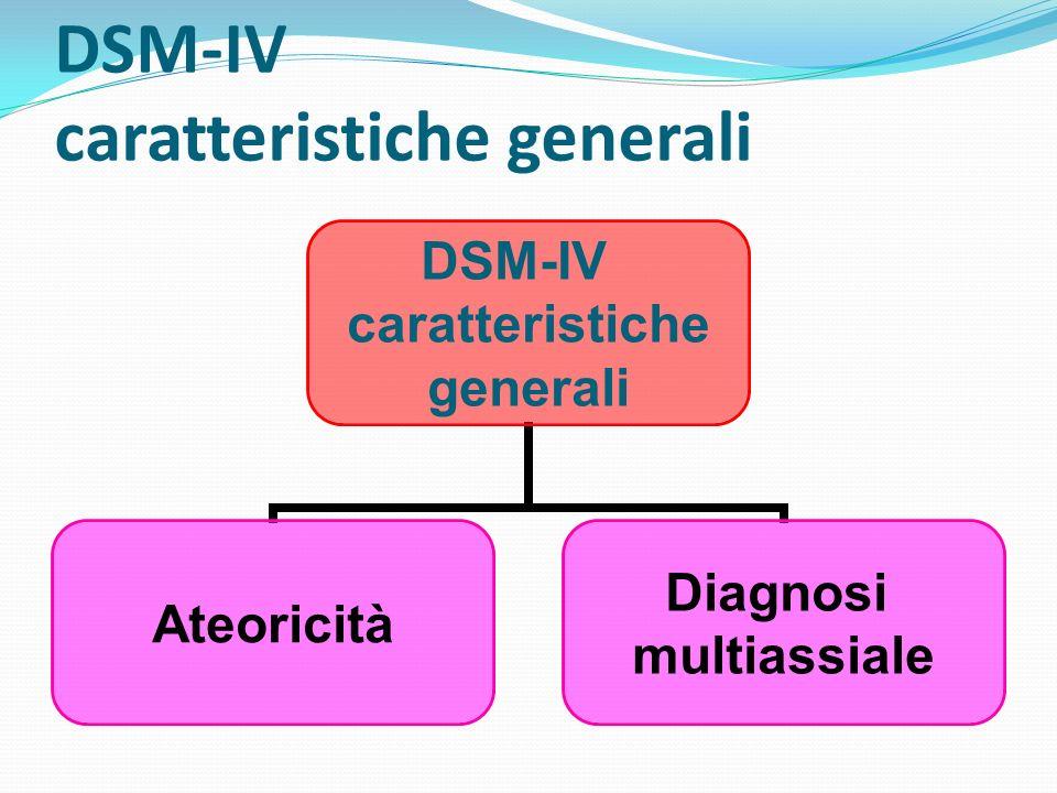 DSM-IV caratteristiche generali