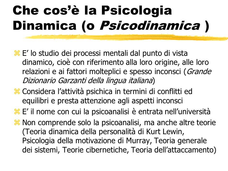 Che cos'è la Psicologia Dinamica (o Psicodinamica )