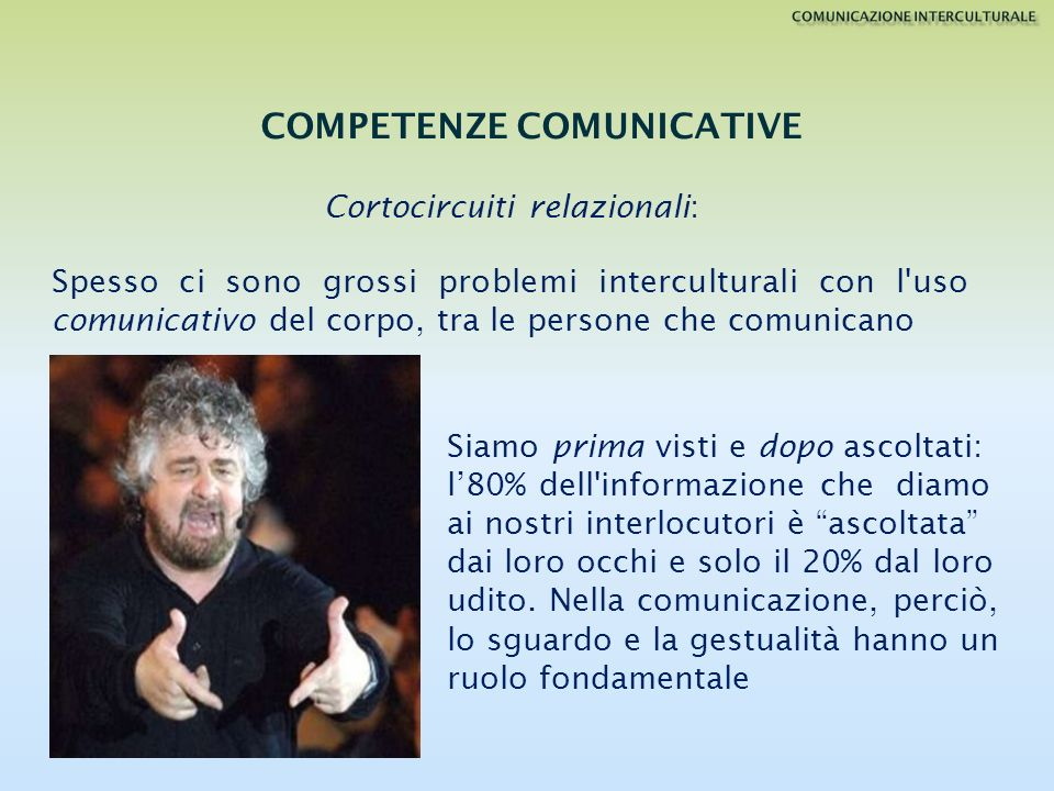 COMPETENZE COMUNICATIVE