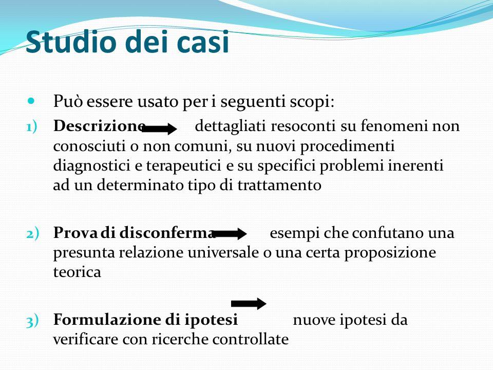 Studio dei casi Può essere usato per i seguenti scopi: