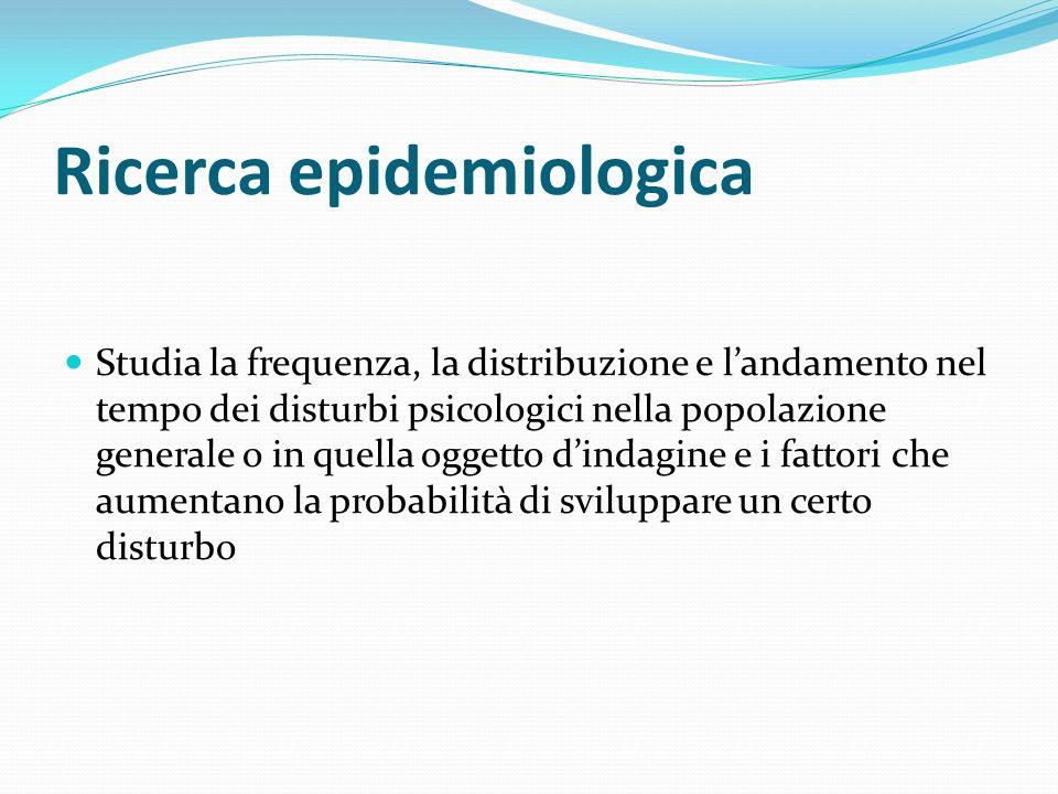 Ricerca epidemiologica