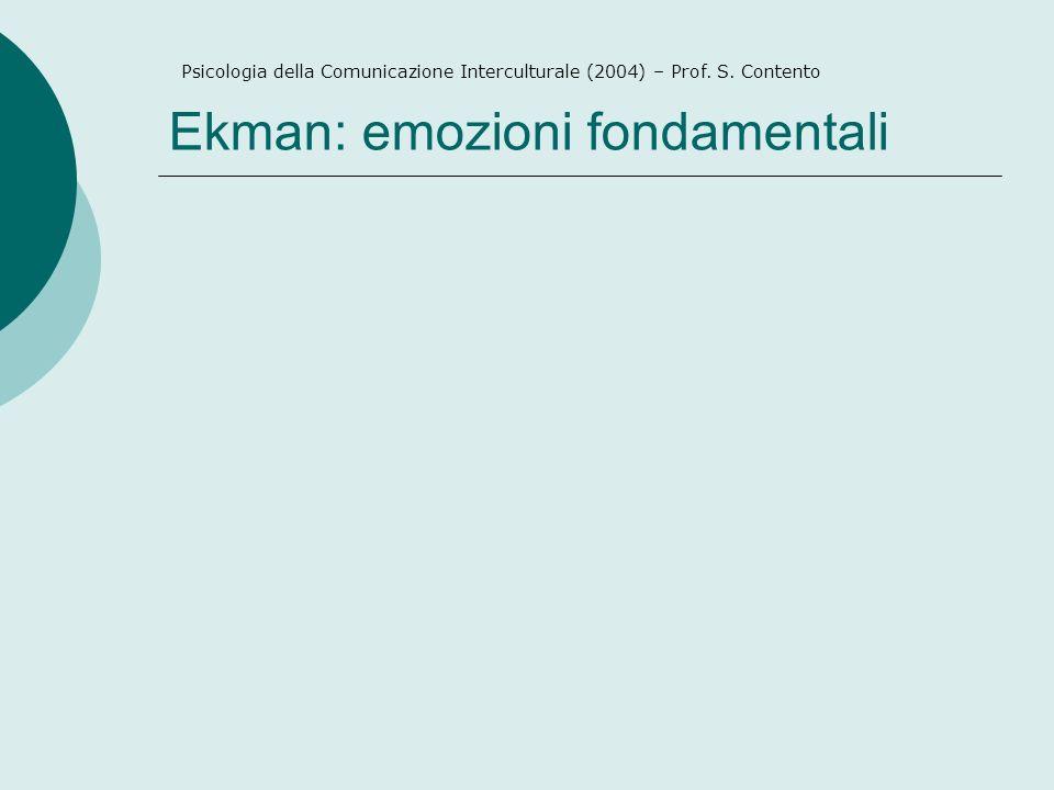 Ekman: emozioni fondamentali