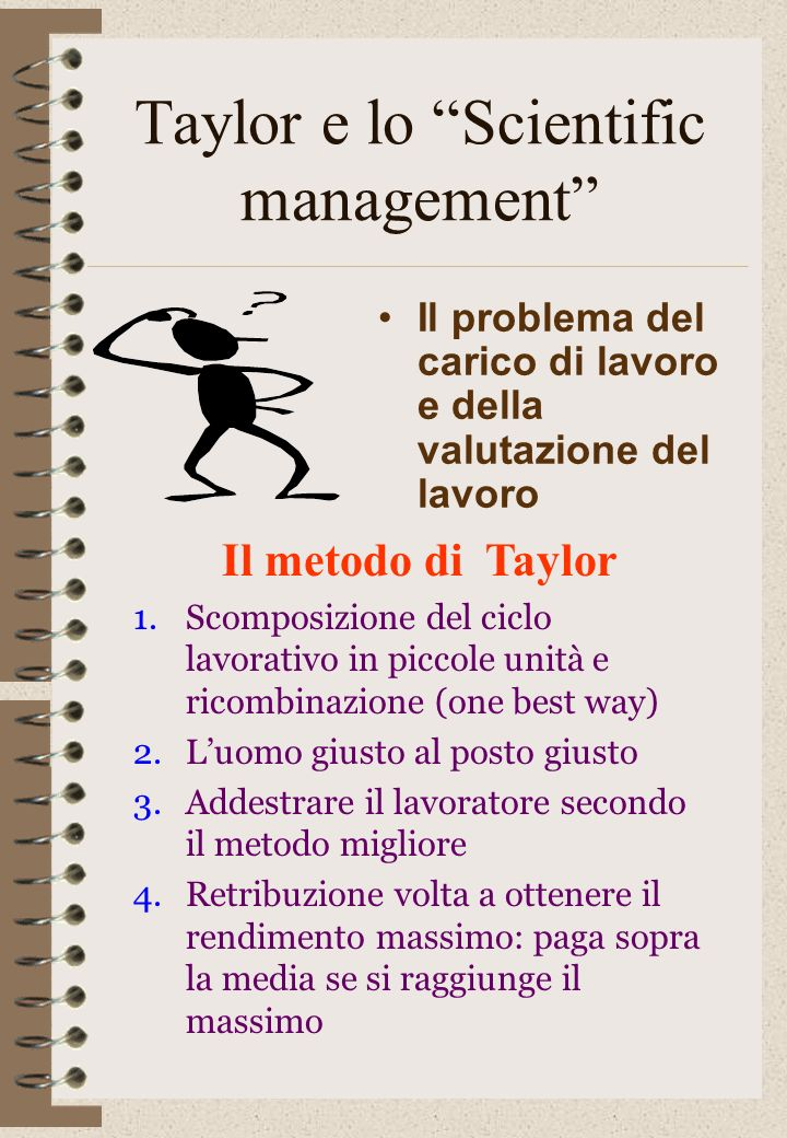 Taylor e lo Scientific management