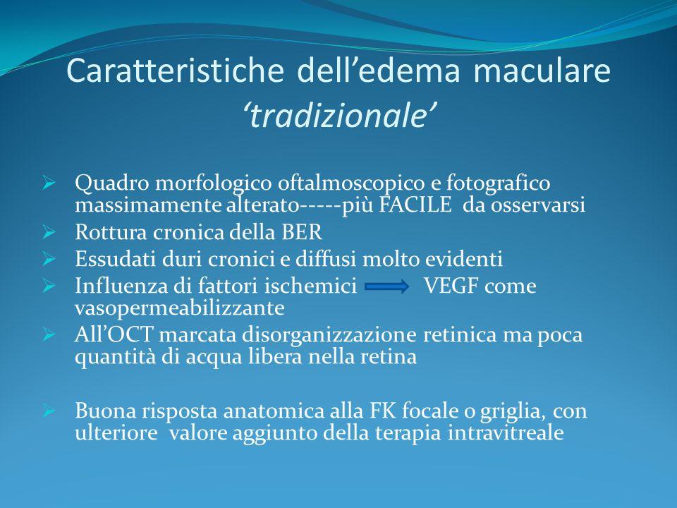 Caratteristiche dell'edema maculare 'tradizionale'
