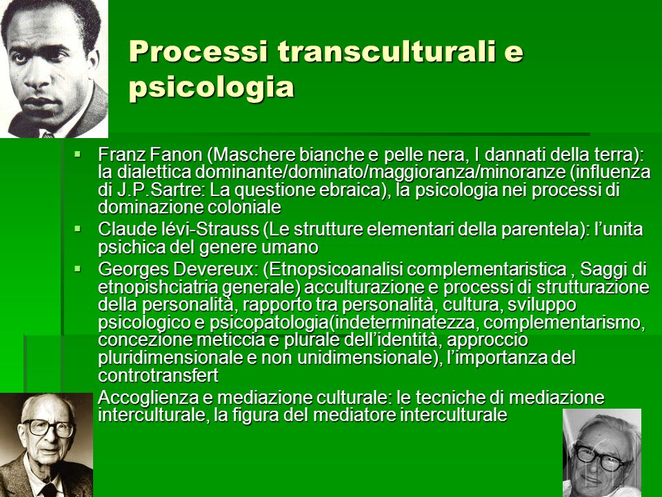 Processi transculturali e psicologia