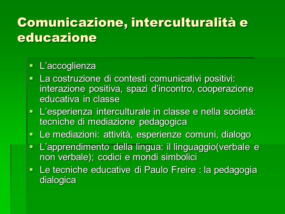 Comunicazione, interculturalità e educazione