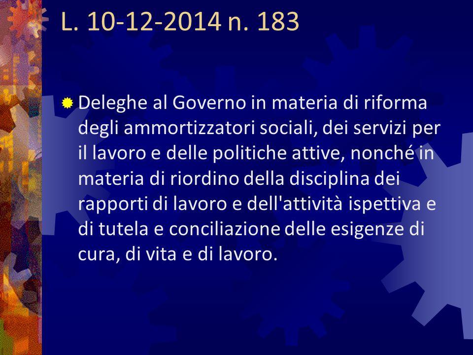 L. 10-12-2014 n. 183