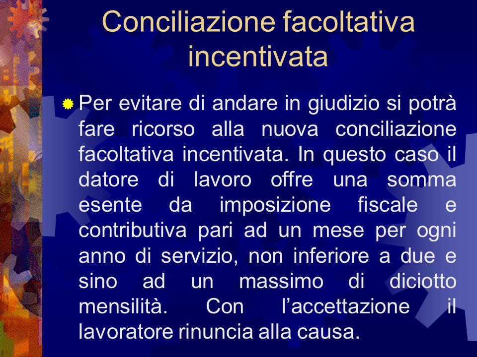 Conciliazione facoltativa incentivata