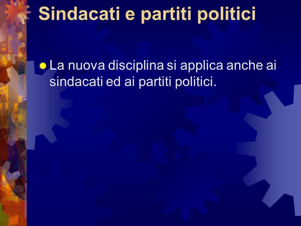 Sindacati e partiti politici