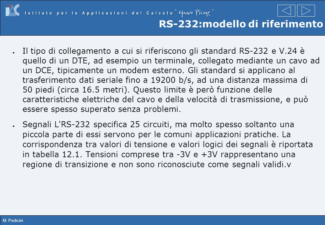 RS-232:modello di riferimento