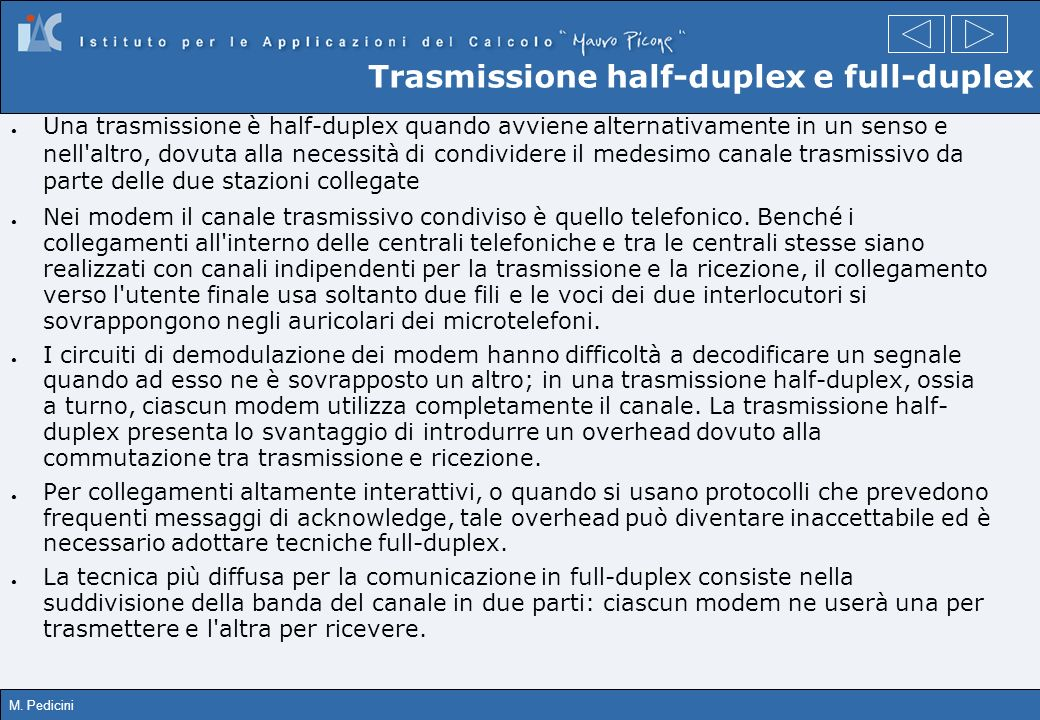 Trasmissione half-duplex e full-duplex