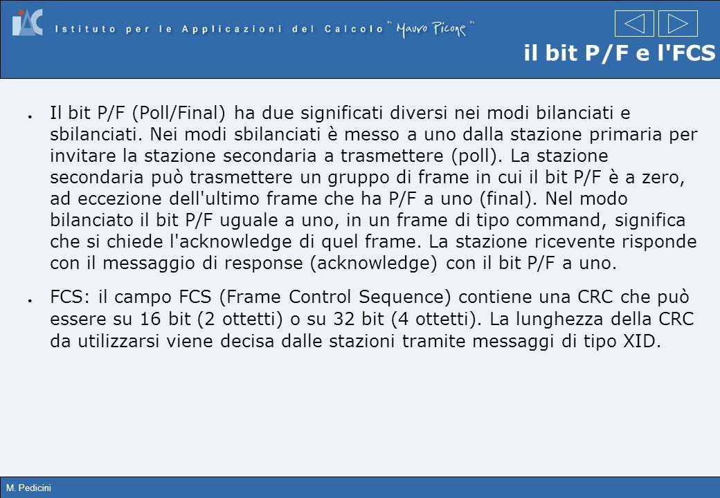 il bit P/F e l FCS
