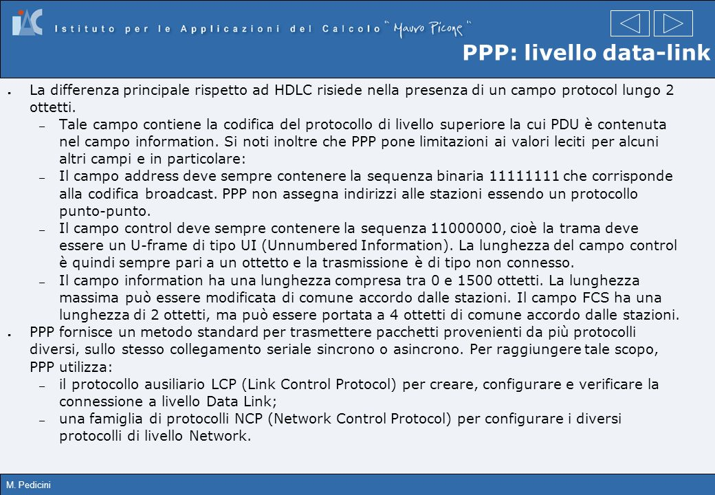 PPP: livello data-link