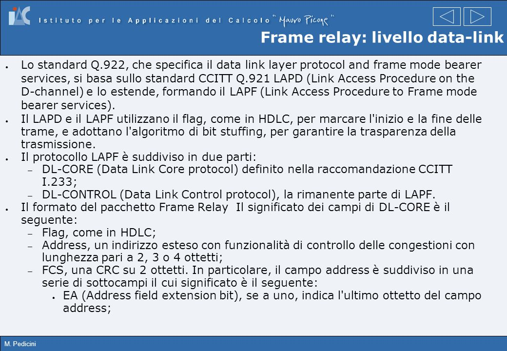 Frame relay: livello data-link
