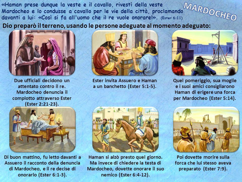 Ester invita Assuero e Haman a un banchetto (Ester 5:1-5).