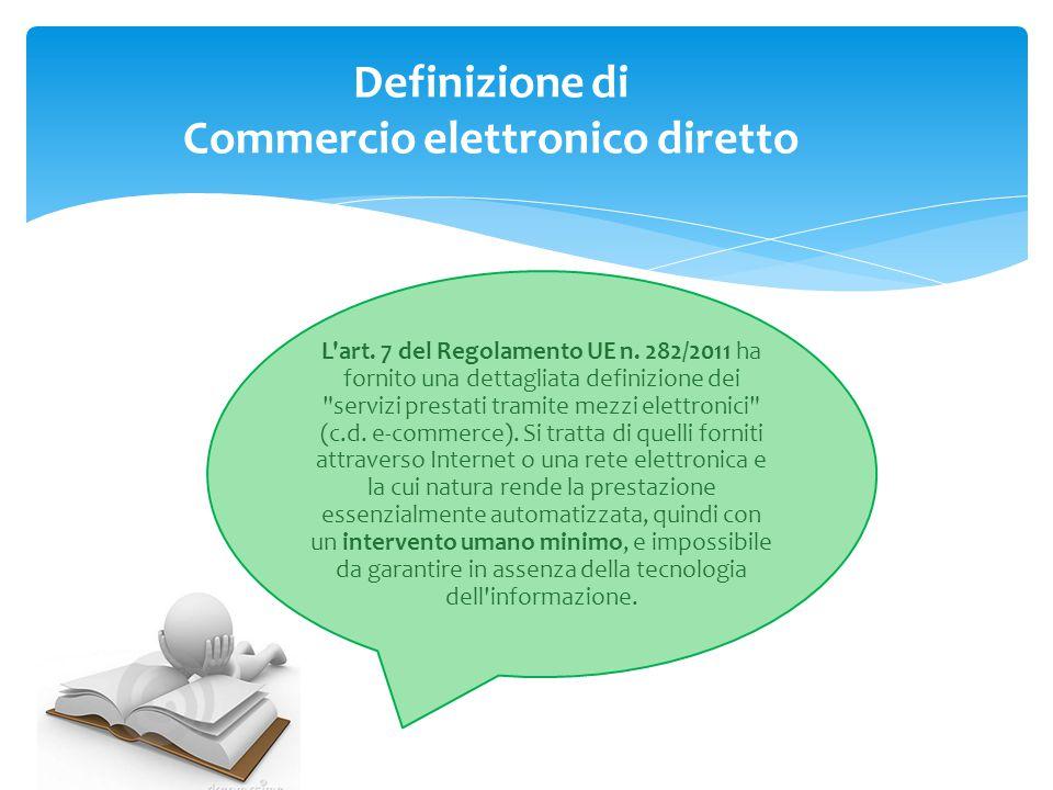 Definizione di Commercio elettronico diretto