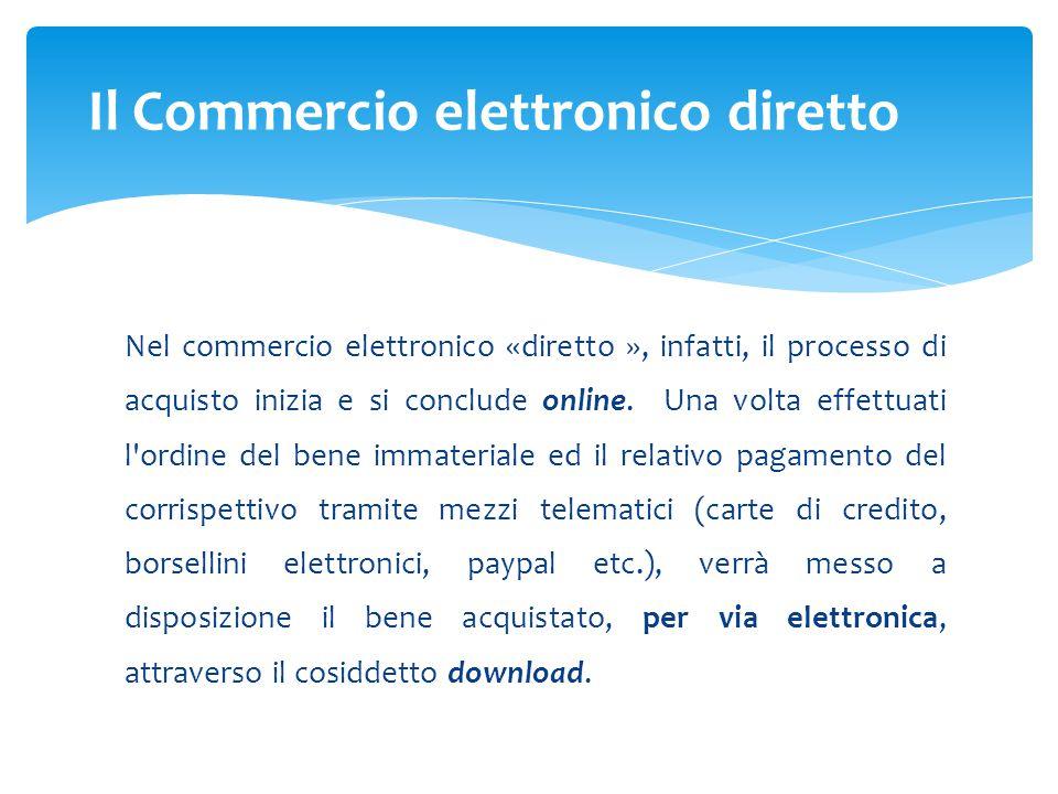 Il Commercio elettronico diretto