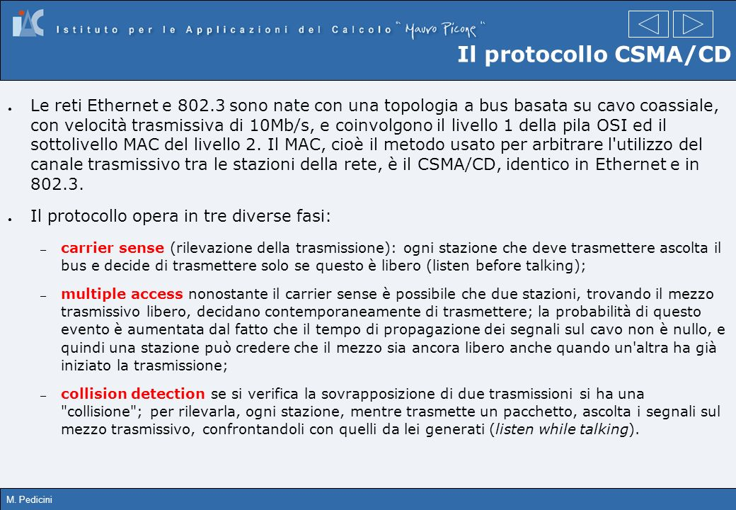 Il protocollo CSMA/CD