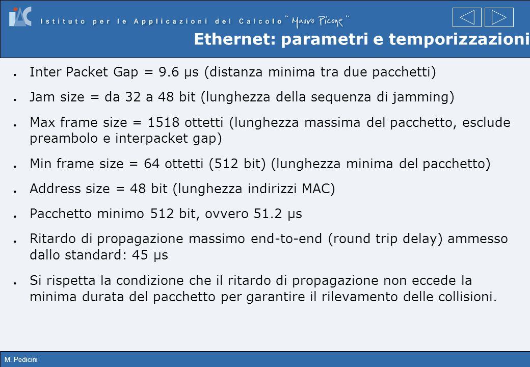Ethernet: parametri e temporizzazioni